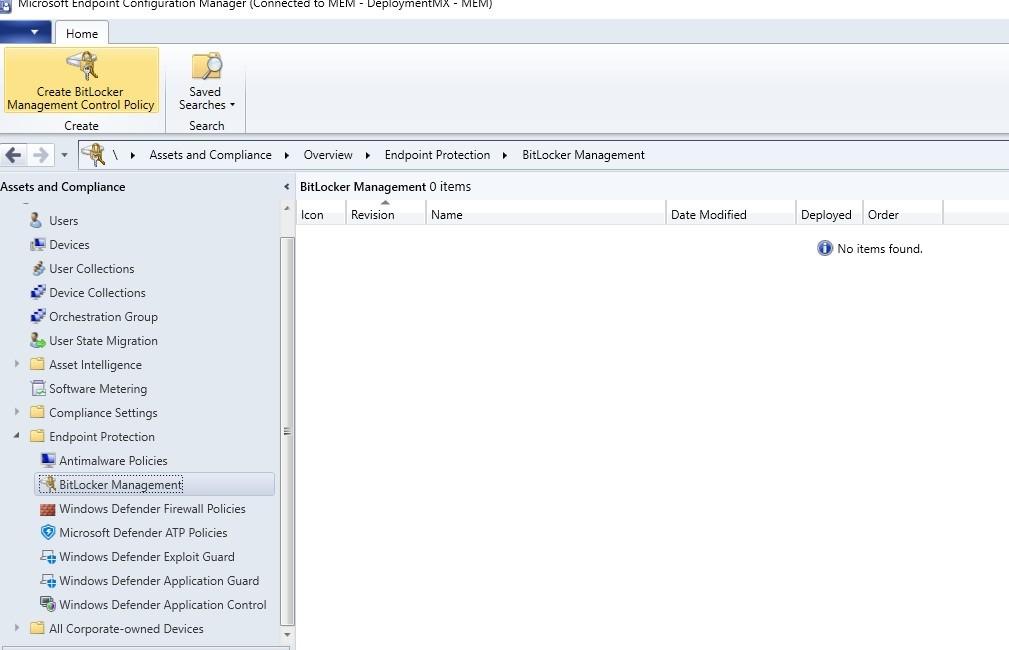 Administrar Bitlocker desde Configuration Manager