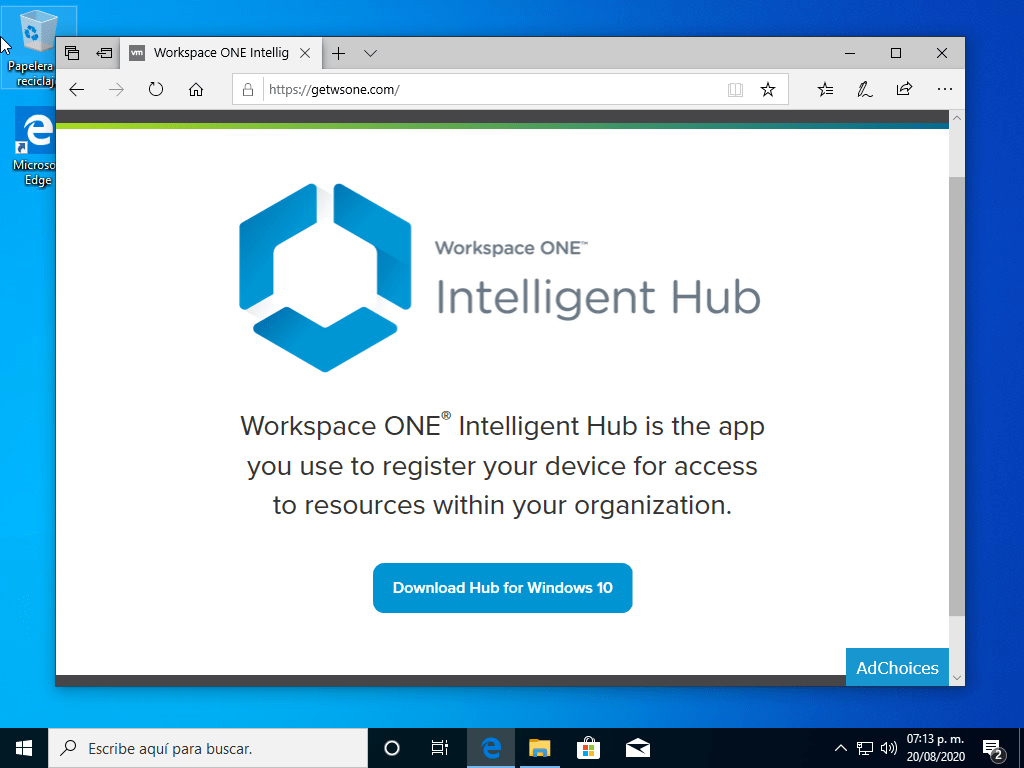 Inscribir Windows 10 con Workspace One UEM