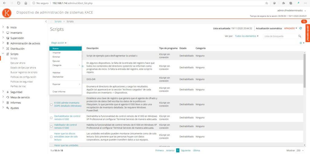 Instalar aplicaciones con Chocolatey usando Kace SMA